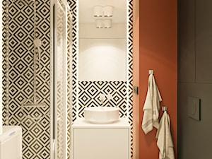 MINImum powieszchni, MAXImum funkcjonalności - Mała czarna łazienka bez okna, styl nowoczesny - zdjęcie od LINEUP STUDIO