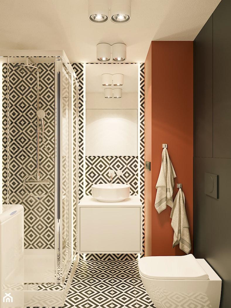 MINImum powieszchni, MAXImum funkcjonalności - Mała czarna łazienka bez okna, styl nowoczesny - zdjęcie od LINEUP STUDIO - Homebook