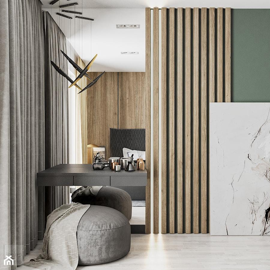 Aranżacje wnętrz - Sypialnia: Minimal Green - Biała zielona sypialnia, styl minimalistyczny - LINEUP STUDIO. Przeglądaj, dodawaj i zapisuj najlepsze zdjęcia, pomysły i inspiracje designerskie. W bazie mamy już prawie milion fotografii!