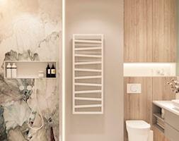 Dom jednorodzinny pod Krakowem - Średnia szara łazienka w bloku w domu jednorodzinnym bez okna, st ... - zdjęcie od LINEUP STUDIO - Homebook