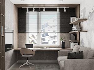 Mieszkanie w Warszawie - Średni biały szary beżowy pokój dziecka dla ucznia dla nastolatka, styl nowoczesny - zdjęcie od LINEUP STUDIO