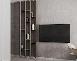Mieszkanie w Warszawie - Mały szary pokój dziecka dla ucznia, styl nowoczesny - zdjęcie od LINEUP STUDIO