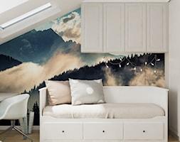 Neoklasyk Pod Krakowem - Mały biały szary kolorowy pokój dziecka dla dziewczynki dla ucznia dla nastolatka, styl tradycyjny - zdjęcie od LINEUP STUDIO