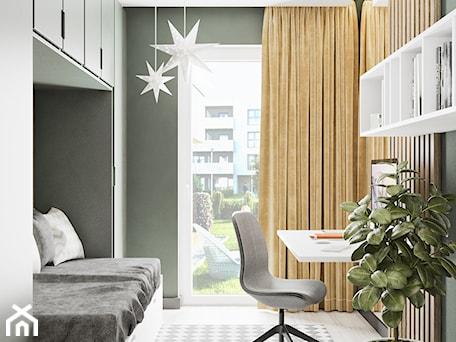 Minimal Green - Mały szary zielony pokój dziecka dla dziewczynki dla ucznia dla nastolatka, styl minimalistyczny - zdjęcie od LINEUP STUDIO