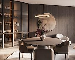 nad Skarpą - Średnia otwarta jadalnia w salonie, styl włoski - zdjęcie od Studio Salve
