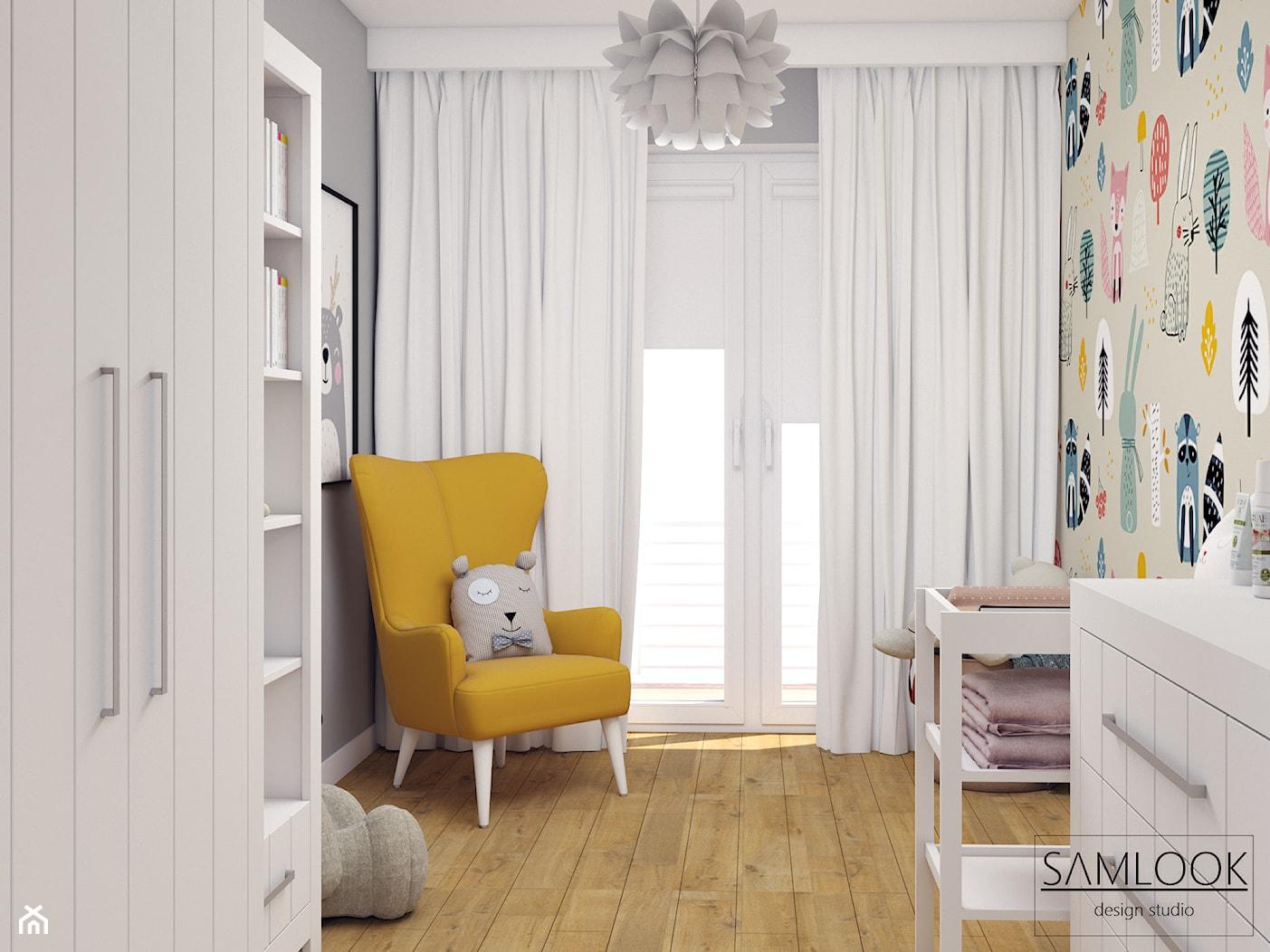 Mieszkanie w Warszawie - projekt w stylu nowoczesnym - Pokój dziecka, styl nowoczesny - zdjęcie od SAMLOOK DESIGN STUDIO - Homebook
