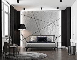 Ukraina / Kijów - projekt 2-poziomowego loftu - Średnia biała szara czarna sypialnia małżeńska, sty ... - zdjęcie od ABD Projects - Homebook