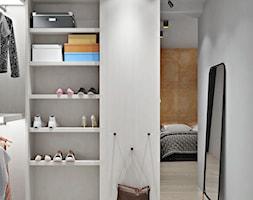 Ukraina / Kijów - projekt 2-poziomowego loftu - Średnia otwarta garderoba przy sypialni, styl nowoc ... - zdjęcie od ABD Projects - Homebook