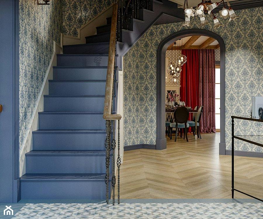 Berlin - projekt części wnętrz domu jednorodzinnego - Hol / przedpokój, styl klasyczny - zdjęcie od ABD Projects