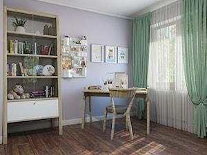 Sztum - projekt domu jednorodzinnego w stylu klasycznym - Średni fioletowy pokój dziecka dla ucznia dla malucha, styl eklektyczny - zdjęcie od ABD Projects
