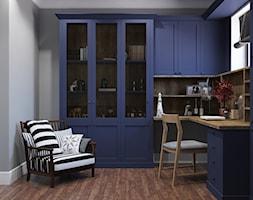 Sztum - projekt domu jednorodzinnego w stylu klasycznym - Średnie szare biuro domowe w pokoju, styl klasyczny - zdjęcie od ABD Projects