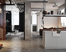 Ukraina / Kijów - projekt 2-poziomowego loftu - Kuchnia, styl industrialny - zdjęcie od ABD Projects - Homebook
