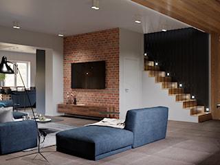 Ukraina / Biała Cerkiew - 2-poziomowe mieszkanie w stylu  minimalistycznym