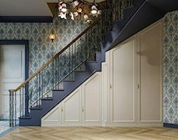Berlin - projekt części wnętrz domu jednorodzinnego - Hol / przedpokój, styl klasyczny - zdjęcie od ABD Projects - Homebook