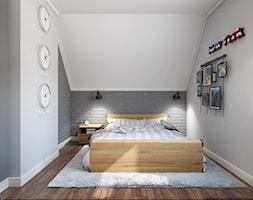 Sztum - projekt domu jednorodzinnego w stylu klasycznym - Mały szary pokój dziecka dla chłopca dla nastolatka, styl industrialny - zdjęcie od ABD Projects