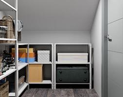 Ukraina / Biała Cerkiew - 2-poziomowe mieszkanie w stylu minimalistycznym - Mała garderoba oddzielne pomieszczenie, styl minimalistyczny - zdjęcie od ABD Projects