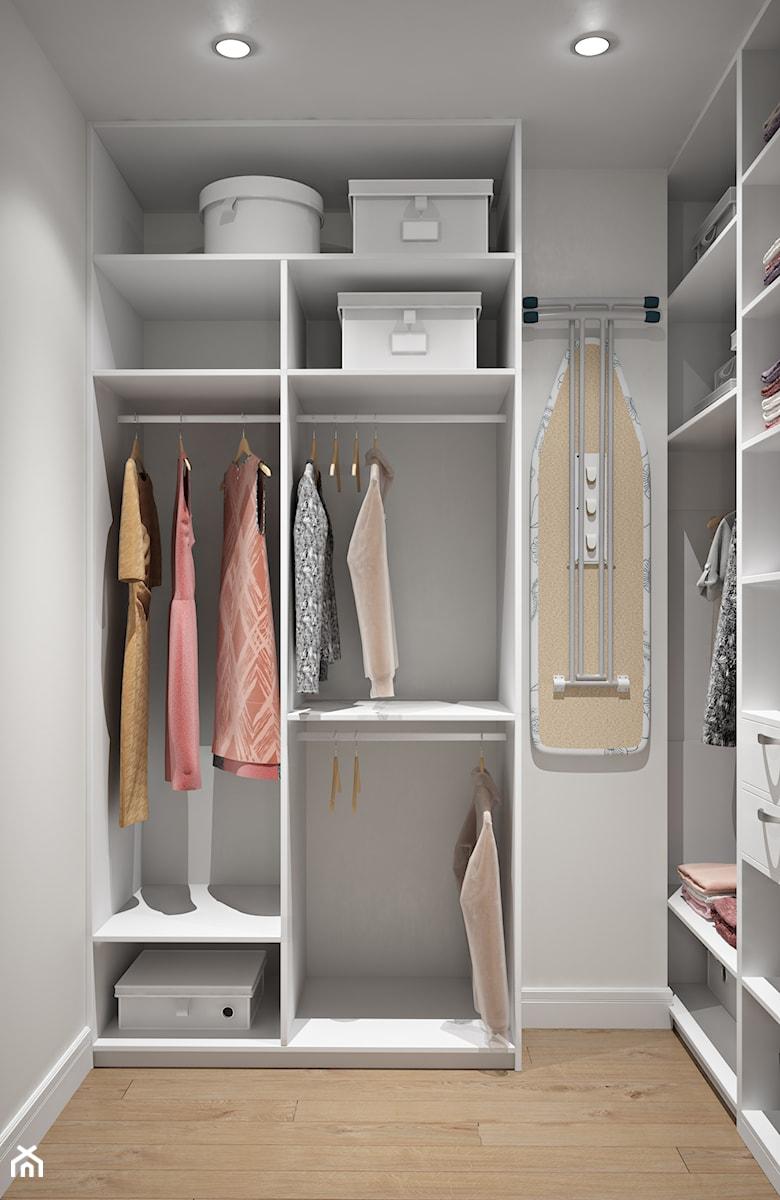 Aranżacje wnętrz - Garderoba: Elbląg - projekt mieszkania w stylu klasycznym - Średnia garderoba, styl minimalistyczny - ABD Projects. Przeglądaj, dodawaj i zapisuj najlepsze zdjęcia, pomysły i inspiracje designerskie. W bazie mamy już prawie milion fotografii!