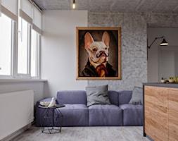 Ukraina / Kijów- 2-pokojowe mieszkanie w stylu industrialnym - Salon, styl industrialny - zdjęcie od ABD Projects - Homebook
