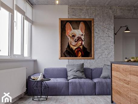 Aranżacje wnętrz - Salon: Ukraina / Kijów- 2-pokojowe mieszkanie w stylu industrialnym - Salon, styl industrialny - ABD Projects. Przeglądaj, dodawaj i zapisuj najlepsze zdjęcia, pomysły i inspiracje designerskie. W bazie mamy już prawie milion fotografii!