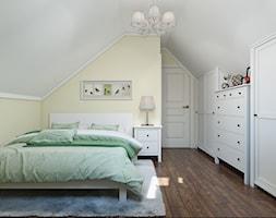 Sztum - projekt domu jednorodzinnego w stylu klasycznym - Średni biały żółty pokój dziecka dla dziewczynki dla nastolatka, styl prowansalski - zdjęcie od ABD Projects