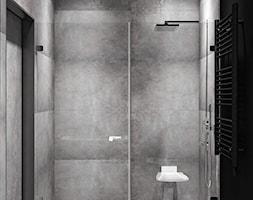 Ukraina / Kijów - projekt 2-poziomowego loftu - Mała czarna łazienka w bloku w domu jednorodzinnym b ... - zdjęcie od ABD Projects - Homebook