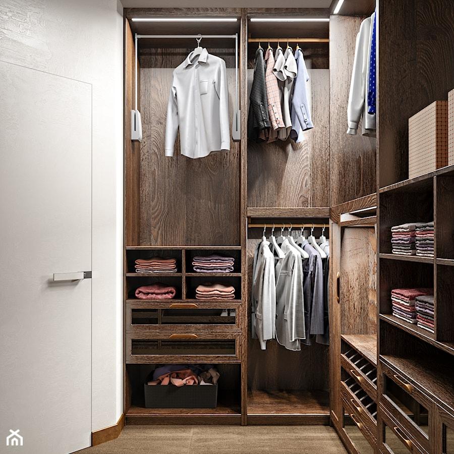 Aranżacje wnętrz - Garderoba: Elbląg - 2-poziomowe mieszkanie w stylu minimalistycznym - Mała zamknięta garderoba, styl nowoczesny - ABD Projects. Przeglądaj, dodawaj i zapisuj najlepsze zdjęcia, pomysły i inspiracje designerskie. W bazie mamy już prawie milion fotografii!