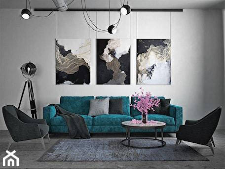 Aranżacje wnętrz - Salon: Ukraina / Kijów - projekt 2-poziomowego loftu - Mały szary salon, styl industrialny - ABD Projects. Przeglądaj, dodawaj i zapisuj najlepsze zdjęcia, pomysły i inspiracje designerskie. W bazie mamy już prawie milion fotografii!