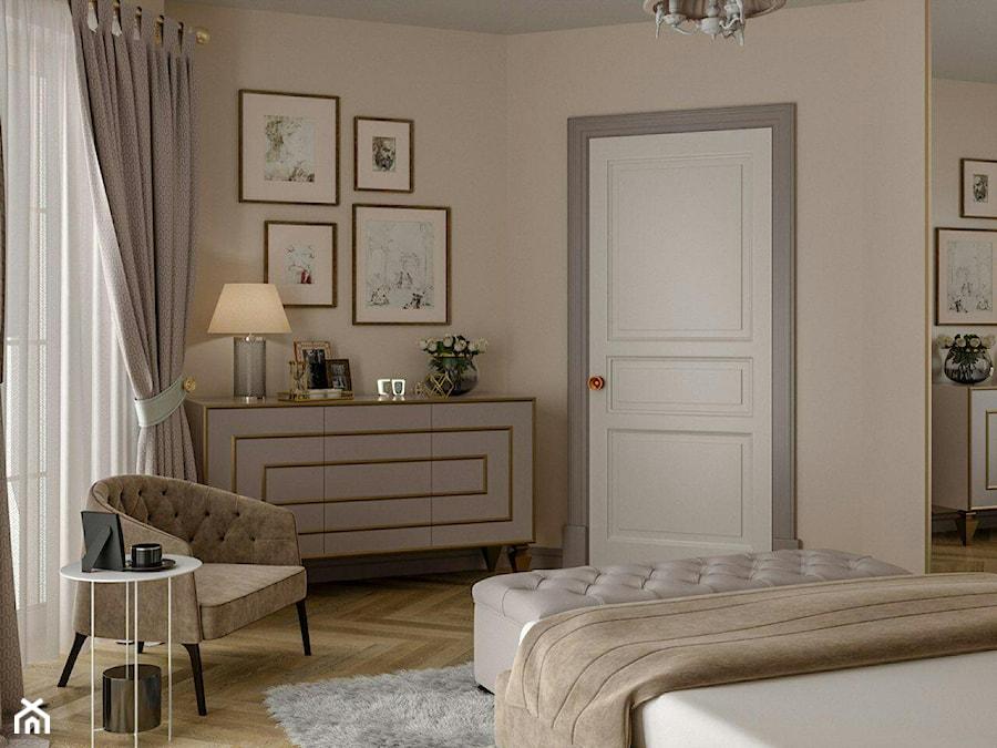 Berlin - projekt części wnętrz domu jednorodzinnego - Sypialnia, styl klasyczny - zdjęcie od ABD Projects