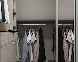 Sztum - projekt domu jednorodzinnego w stylu klasycznym - Mała zamknięta garderoba oddzielne pomieszczenie, styl eklektyczny - zdjęcie od ABD Projects
