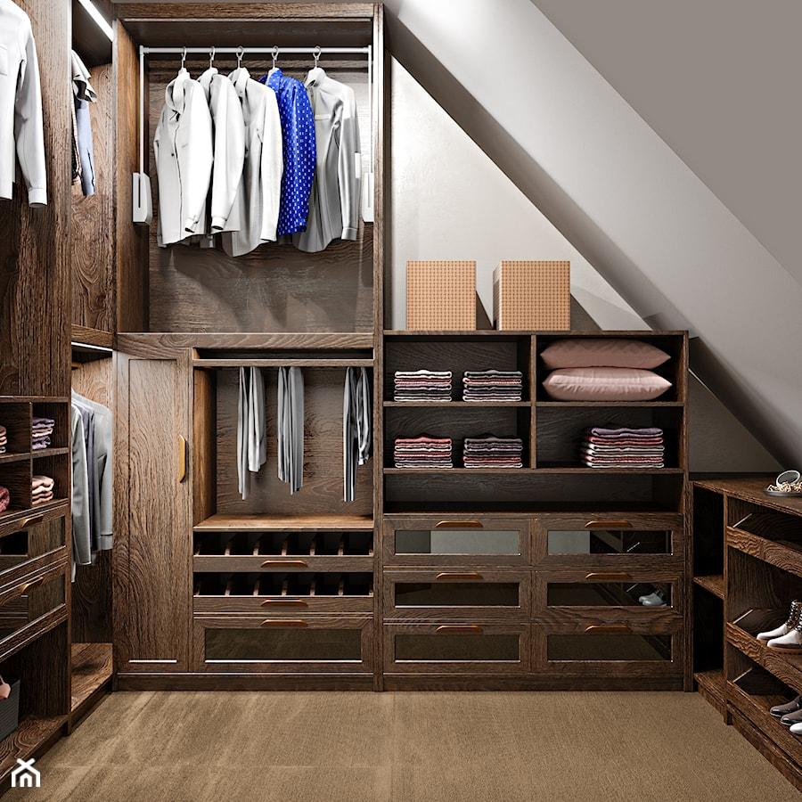 Aranżacje wnętrz - Garderoba: Elbląg - 2-poziomowe mieszkanie w stylu minimalistycznym - Średnia zamknięta garderoba na poddaszu, styl nowoczesny - ABD Projects. Przeglądaj, dodawaj i zapisuj najlepsze zdjęcia, pomysły i inspiracje designerskie. W bazie mamy już prawie milion fotografii!