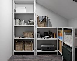 Ukraina / Biała Cerkiew - 2-poziomowe mieszkanie w stylu minimalistycznym - Garderoba na poddaszu, styl minimalistyczny - zdjęcie od ABD Projects