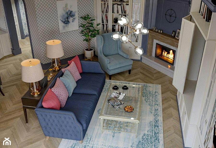 Berlin - projekt części wnętrz domu jednorodzinnego - Salon, styl klasyczny - zdjęcie od ABD Projects
