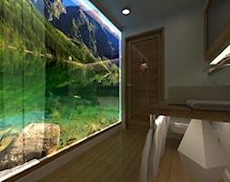 Projekt wnętrza apartamentu hotelowego ***** - Średnia biała łazienka w bloku w domu jednorodzinnym bez okna, styl klasyczny - zdjęcie od Ksiestwo Goralskie Design