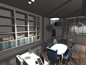 Projekt Kancelarii Notarialnej - Średnie szare biuro pracownia w pokoju, styl glamour - zdjęcie od Anna Masiewicz 2