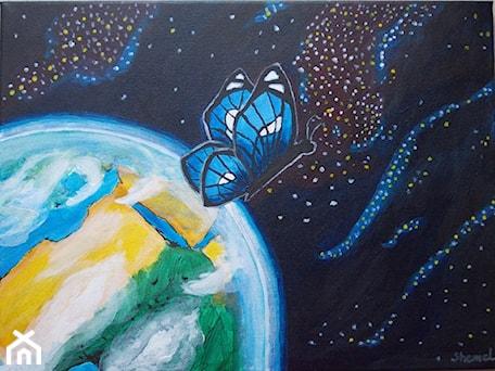 """Aranżacje wnętrz - Sypialnia: """"Butterfly in space"""" (Motyl w kosmosie) - monikashemel. Przeglądaj, dodawaj i zapisuj najlepsze zdjęcia, pomysły i inspiracje designerskie. W bazie mamy już prawie milion fotografii!"""