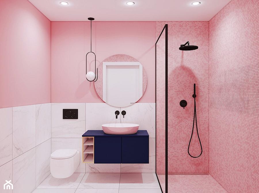 Pink Bathroom - zdjęcie od Pracownia Projektowa HybriDesign Adelina Czerbak