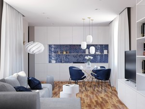 Navy Blue Livingroom