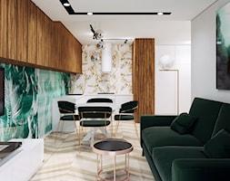 Ultra+nowoczesny+salon+z+zielonym+akcentem+-+zdj%C4%99cie+od+Pracownia+Projektowa+HybriDesign+Adelina+Czerbak