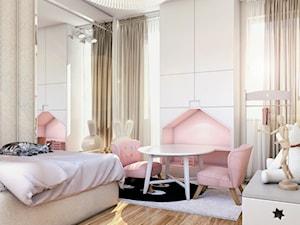 DOM PRYWATNY - Mały biały pokój dziecka dla dziewczynki dla malucha - zdjęcie od START DESIGN