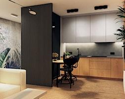 MIESZKANIE I - Średni salon z kuchnią z jadalnią - zdjęcie od START DESIGN