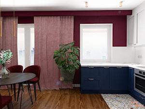 Eklektyczne Art Deco - salon z aneksem - zdjęcie od MOOKA Studio