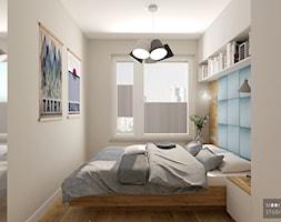 Z niebieskim akcentem - Sypialnia, styl skandynawski - zdjęcie od MOOKA Studio - Homebook
