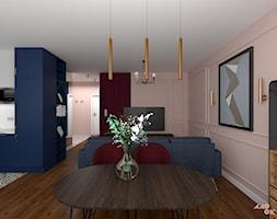Eklektyczne+Art+Deco+-+salon+z+aneksem+-+zdj%C4%99cie+od+MOOKA+Studio