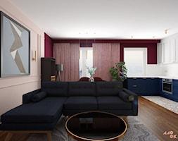 Eklektyczne Art Deco - salon z aneksem - zdjęcie od MOOKA Studio - Homebook