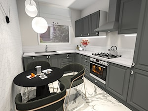 Kuchnia klasyczna w graficie - zdjęcie od let's design