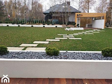 Ogród minimalistyczny - Duży ogród za domem, styl nowoczesny - zdjęcie od Czas na zielen
