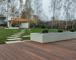 Ogród minimalistyczny - Duży ogród za domem, styl nowoczesny - zdjęcie od Czas na zielen - Homebook
