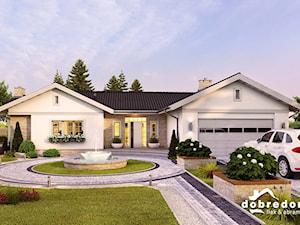 Jasmina I i Jasmina II - eleganckie projekty dużych domów parterowych