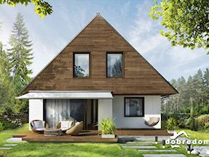 Domy z drewnianą okładziną na elewacji