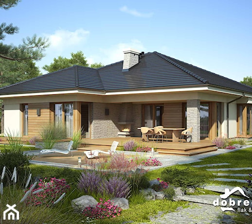Wybitny nowoczesna elewacja domu jednorodzinnego - pomysły, inspiracje z OL15